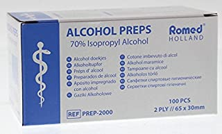 Hisopos de Alcohol 2-capas 65 X 30mm Hisopo Alcohol 100 Unidades