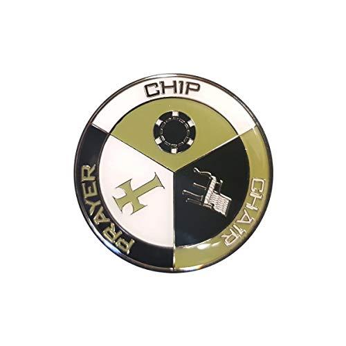 Poker Weight Card-Guard Chip-Chair-Prayer - en métal - 2 Faces différentes - 50mm de diamètre