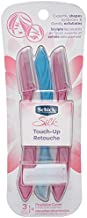 Schick Silk Touch-Up Multipurpose Exfoliating Dermaplaning Tool, Eyebrow Razor, and Facial Razor with Precision Cover, 3 Count