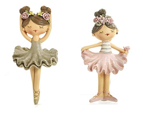 Mandorle by Paben 12 Pezzi Calamita Ballerina in Resina Collezione Tender cm.10,1 Bomboniera Bambina Comunione Cresima Compleanno