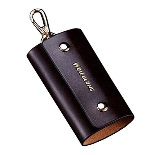 Alien Storehouse Leder Schlüsselkasten-Mappen Unisex Keychain Auto-Schlüsselhalter-Ring mit 6 Haken, NO.20