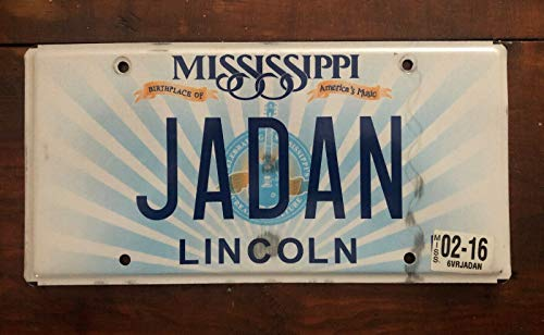 Inga Mississippi Lincoln County Plaque d'immatriculation Jadan Plaque d'immatriculation 15 x 30,5 cm