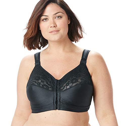 Comfort Choice Women's Plus Size Easy Enhancer Wireless Posture Bra - 40 DDD, Black