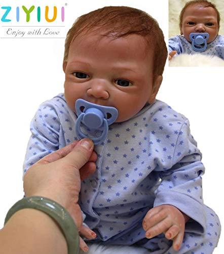 ZIYIUI Bambole Reborn Maschio 20 Pollice 50cm Silicone Morbido Vinile Corpo Pieno Realistico Fatto a Mano Magnetico Economico Giocattoli per Neonati Regali di Festa Reborn Bambola