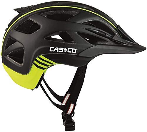 Casco Activ 2 Fahrradhelm Herren, Damen Schwarz Matt Gelb (L 58-62cm)