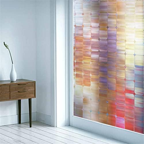Vinilos para Cristales Privacidad Autoadhesivo Escalas Creativas Anti UV La Película Decorativa de Moda es Adecuada para Oficina, Tienda, Hogar, Color(90x200cm)