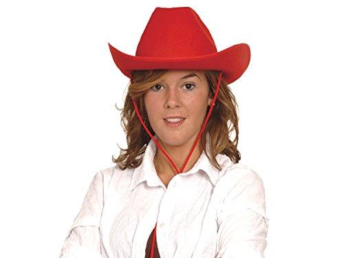 Alsino Cowboyhüte Karneval Damen Herren Cowboyhut Faschingshut Karnevalshut, wählen:Cowboyhut rot 04075