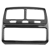 カーインテリアの装飾 ステッカー ABS炭素繊維の色の車のスタイリングリアエアコンベントアウトレットフレームカバートリム車のステッカーのためにBMW 5シリーズG30 2017 2018 (サイズ : B)