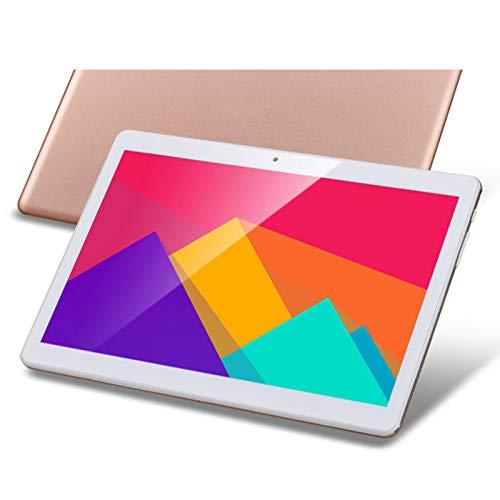 QCBC Tableta Android de 10,1 Pulgadas, Almohadilla de Cable de Quad, RAM de 16GB RAM 1GB, PC P PC con Ranuras de Tarjeta SIM Dual, WiFi, GPS, Bluetooth, Cámaras, Pantalla IPS HD