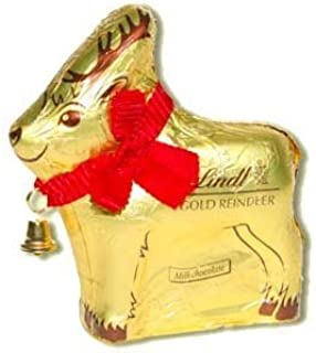 Lindt & Sprungli Pack Of 2 Lindt Chocolates Gold Reindeer