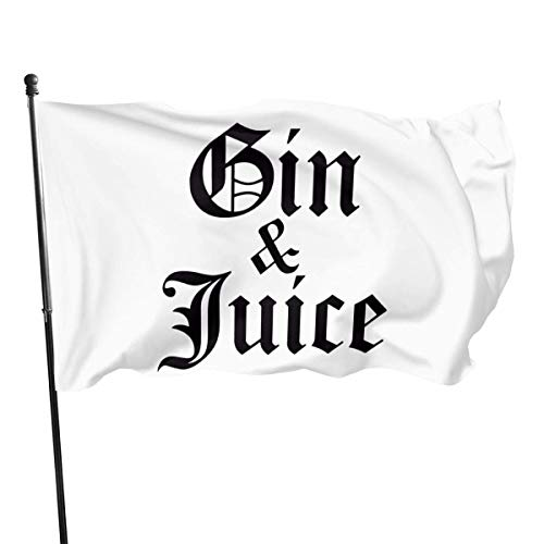 Feng Mei Yan Jiu Fahnen Gin & Juice Decorative Garden Flags Outdoor Artificial Flag for Home Garden Yard Decorations 3x5 Ft