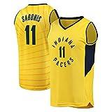 Domantas Sabonis # New Jersey Baloncesto 11 Indiana Pacers Jersey-Verano Camisa sin Mangas (Color : C, Size : XL)