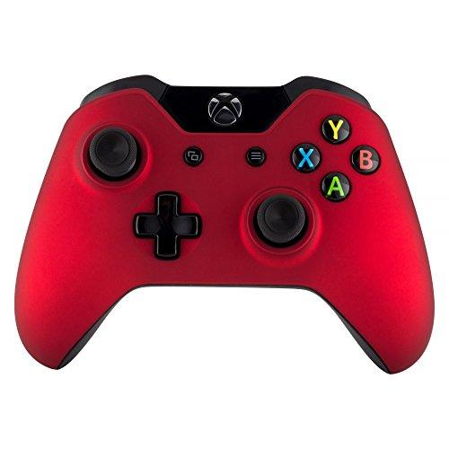 eXtremeRate Case für Standard Xbox One Controller,Hülle Gehäuse Matt Schutzhülle Cover Oberschale Faceplates Zubehör Set Schale für Xbox One Standard Controller(Rot)