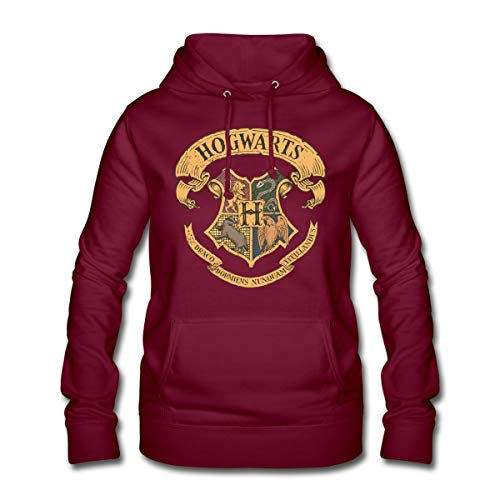 Harry Potter Hogwarts Wappen Frauen Hoodie, M (38), Bordeaux