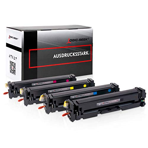4 Logic-Seek XL Toner CF400X 201X kompatibel mit HP Laserjet Pro M252dw MFP M277dw