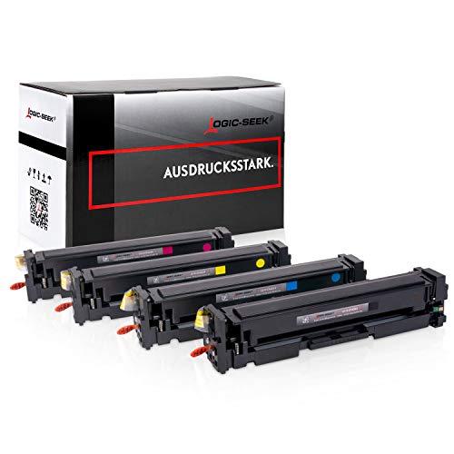 4 Logic-Seek XL Toner kompatibel zu HP Laserjet pro MFP M277dw CF400-X / 201X - Laserjet Pro M252 M274 - Neuste Chipgeneration