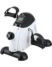 himaly Mini-fiet pedaaltrainer hometrainer bewegingstrainer arm- en beentrainer fiets fitnessapparaat met LCD-monitor instelbare weerstand home fiets trainingsapparaat voor thuis en op kantoor
