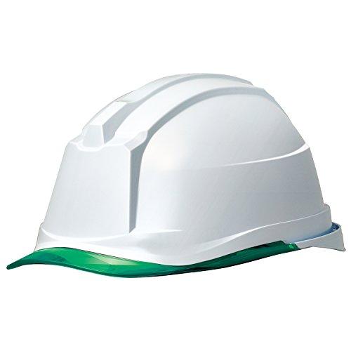 ミドリ安全 ヘルメット クリアバイザー SC-19PCL RA3 α ホワイト グリーン