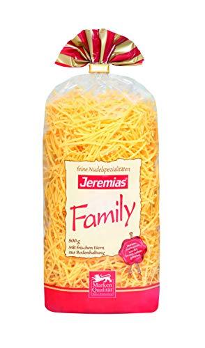 Jeremias Fadennudeln, Family Frischei-Nudeln (1 x 500 g Beutel)