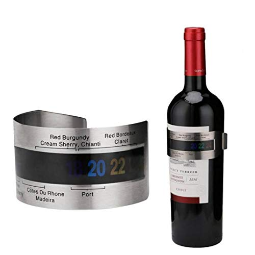 Casecover 1pc 4-26 Degrees Stainless Steel Wine Bracelet Thermometer Centigrade Wine Temerature Sensor Measuring Tools