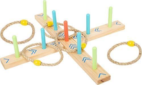 small foot 12035 Ringwurfspiel Active, aus FSC 100%-zertifiziertem Holz, Garten-Spiel für Kinder ab 3 Jahren Spielzeug
