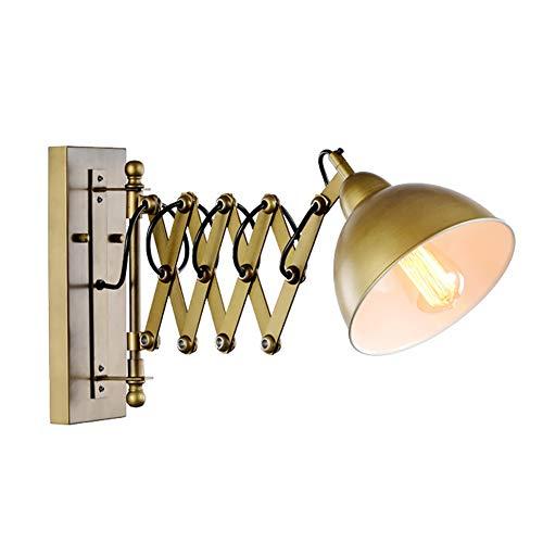 Vintage Industrial Wandleuchte Kreative Ausziehbare Wandleuchte Scheren Arm Einstellbarer Lampenschirm Leseleuchte Aus Nickel Für Loft Schlafzimmer Arbeitszimmer Restaurant Bar E27
