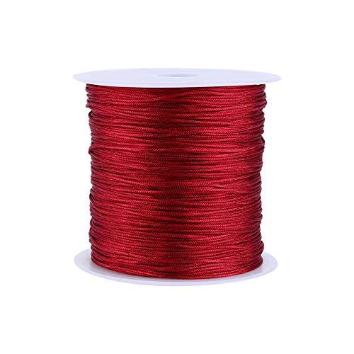 100m X 0.8mm Nylon Cordón De Nudo Chino Rattail Macrame String Borgodery Home Supplies