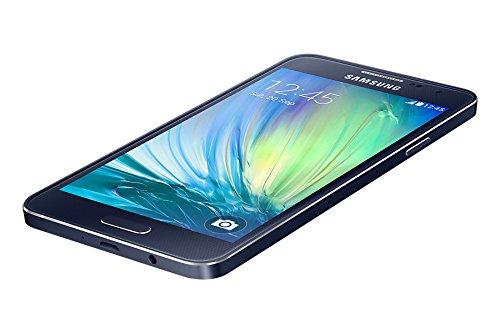 Samsung SM-A300FU Galaxy A3 Smartphone (11,4 cm (4,5 Zoll), 4G, 16GB, microSDXC Steckplatz, 960 x 540 Pixel) Midnight-schwarz