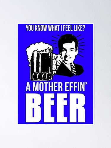 AZSTEEL Póster de la cerveza de la madre Effin, 11,7 x 16,5