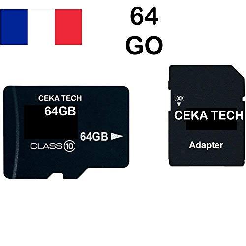 Tarjeta de Memoria Compatible con Samsung Galaxy J5 (2017) SM-J530F, CEKA TECH® Micro-SD 64GB Clase 10 con Adaptador SD