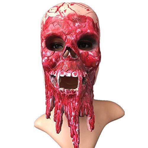 VeiXu Halloween Horror Mask Fear Gejaagde Kleding Tool Ontsnappen Bloedige Enge Hoofd Cover Make-up Event Festival Accessoires Decoratie