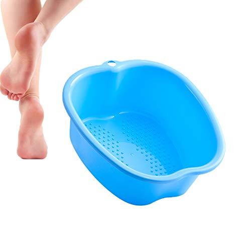 FZCRRDU KOCCAE Großes Fußbader Fußbecken,Fussbadewanne mit Massage Dickes Plastikfußbecken,Fußbad Massagegerät für Pediküre,Entspannung und Detox(Blue)