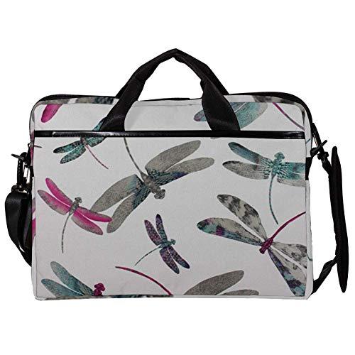 TIZORAX Laptop Messenger Schultertaschen Dragonfly Computer Sleeve Notebook-Tragetasche 15-15,4 Zoll Handtasche