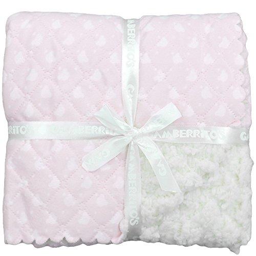 Gamberritos 10000c - Manta, 80 x 100 cm, color rosa