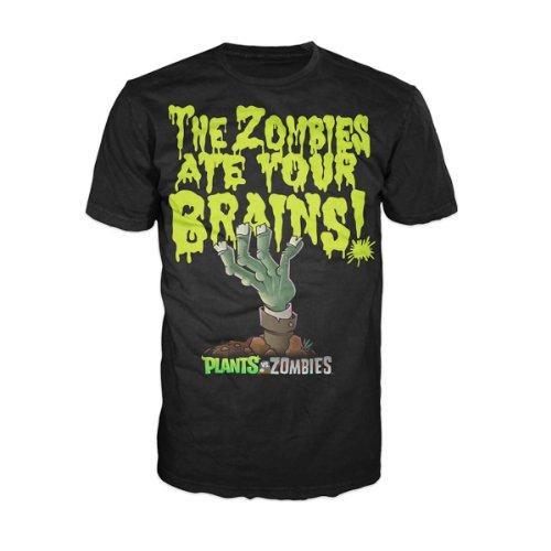 Plants vs Zombies T-Shirt -L- Brains,schwarz
