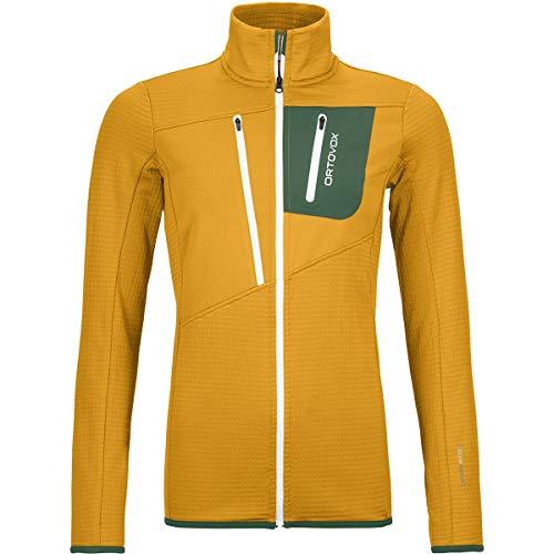 ORTOVOX Damen Fleece Grid Jacket W Weste, Yellowstone, M