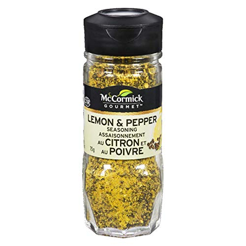 McCormick Gourmet, Premium Quality Natural Herbs & Spices, Lemon & Pepper Seasoning, 75g