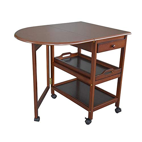 JCNFA BIJZETTAFEL Square/Halfronde Klaptafel, Multifunctionele Telescopische Tafel, Mobile Eettafel, 2 Maten (Color : Brown, Size : Arc Folding Table)