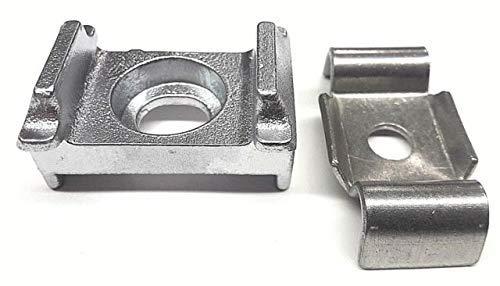 20x Auflagebock Aluminium Zaun Klemmlasche Zaunzubehör Zaunpfosten Zubehör Zaun Pfostenzubehör DoppelstabmattenzaunBefestigung