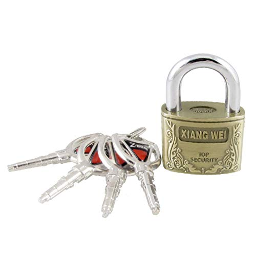 New Lon0167 2.5' High Featured Height Brass Padlock Reliable Efficacy w 4 Keys for Cabinet Luggage Case(id:59d 65 b6 8be)