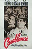 Casablanca -US Text in Rot Classic große Film-POSTER ca.