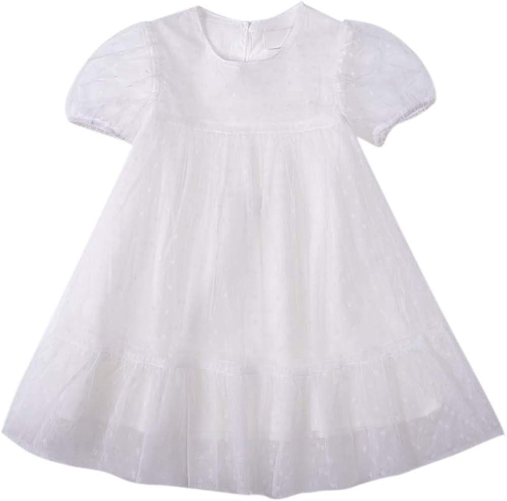 Toddler Girls Dress Short Sleeves Summer Casual Tulle Sundress