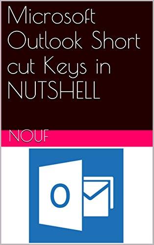 Microsoft Outlook Short cut Keys in NUTSHELL (English Edition)