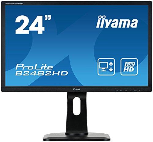 iiyama ProLite B2482HD B1 61cm 24 Zoll LED Monitor Full HD VGA DVI Hohenverstellung Pivot schwarz
