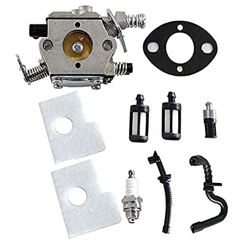 Jeromeki Reemplace el Carburador MS170 Compatible con Zama con Filtro de Aceite, Kit de BujíA de Tubo de Combustible 017018 Carburador MS180