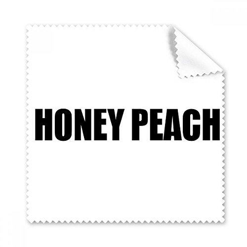 Honing Perzik Fruit Naam Eten Bril Doek Schoonmaken Doek Telefoon Scherm Cleaner 5 stks Gift