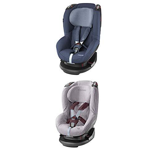 Maxi-Cosi Tobi, Kindersitz mit fünf komfortablen Sitz- und Ruhepositionen, Gruppe 1 Autositz (9-18 kg), nutzbar ab 9 Monate bis 4 Jahre, nomad blue + Sommerbezug, cool grey