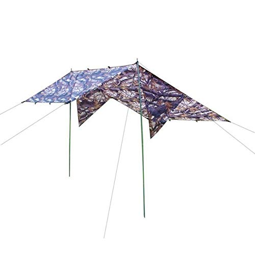 JIEIIFAFH Outdoor Rodless Tent Camouflage Ultralight Sun Shelter Radiation Beach Tent Waterproof Awning Tent Camping Moisture Proof Carpet (Color : 11)