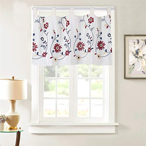 Dreamskull Cortinas cortas con trabillas, para cocina, salón, cortas, pequeñas ventanas, rústicas, modernas, opacas (45 x 90 cm)