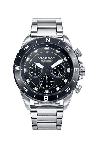 Viceroy Reloj Cronógrafo para Hombre de Cuarzo con Correa en Acero Inoxidable 471115-57